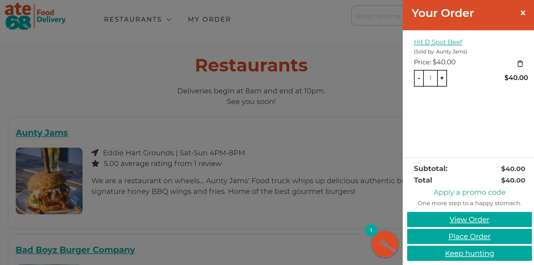 Food Delivery Portal